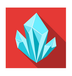 Blue natural mineral icon in flat style isolated vector