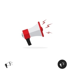 Bullhorn shout logo icon news alert equipment vector