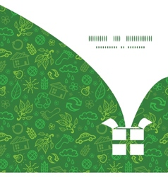 Ecology symbols christmas gift box silhouette vector