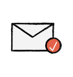 Electronical message online letter icon vector