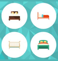 Flat mattress set of bearings mattress cot and vector
