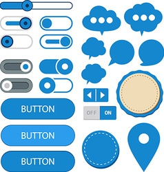 Flat web design elements vector image vector image