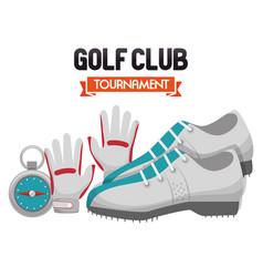 Golf club sport icon vector