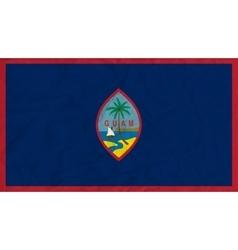 Guam paper flag vector