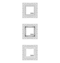 Hand Drawn Doodle Border Frames vector image vector image