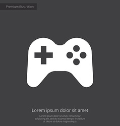 Joystick premium icon white on dark background vector