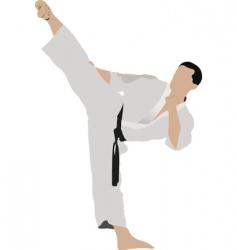 karate sportsman vector image vector image