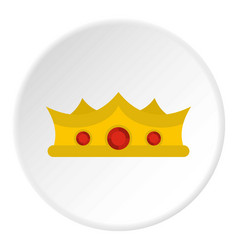King crown icon circle vector