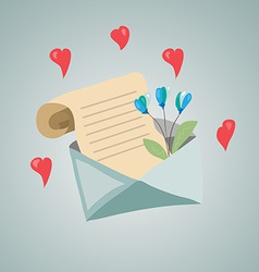 Letter with a flower vector