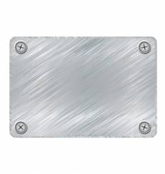 metal plaque vector image vector image