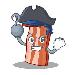 Pirate bacon character cartoon style vector