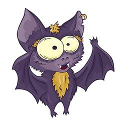 Printable hand drawn cute cartoon bat can be used vector