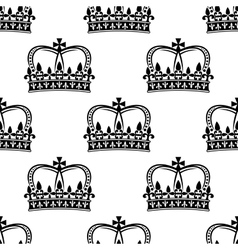 Seamless pattern of royal crowns vector