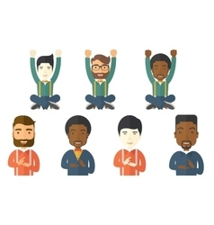 Set of with business people vector