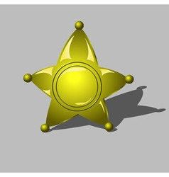 Sheriff badge as golden star vector image vector image