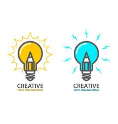 symbol of creative idea - light bulb icon vector image vector image