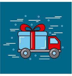 Transport global logistic cartoon vector