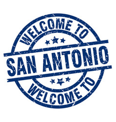 Welcome to san antonio blue stamp vector