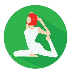 Woman doing yoga icon vector image
