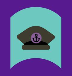 Flat icon design collection sea cap vector