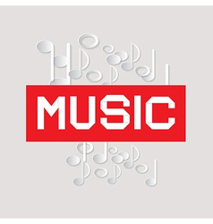 Abstract Music Theme with Paper Notes vector image