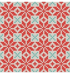 Seamless ornamental knitting pattern vector