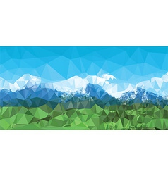 Mountain landscape background with low poly design vector