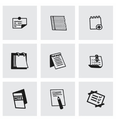 Notes icon set vector