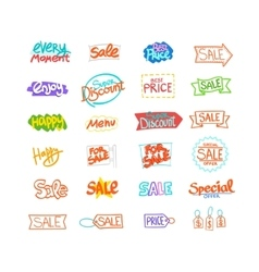 text hand drawn for sale discount and vector image