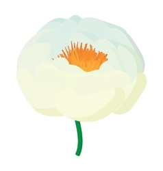 White flower icon cartoon style vector