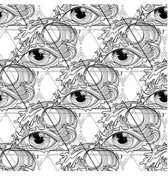 abstract graphic eye vector image