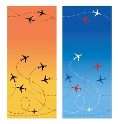 Air travel 2 vector image