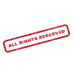 All rights reserved text rubber stamp vector