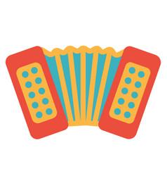 Art design of classic music instrument accordion vector