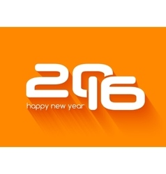 Beautiful typography design of happy new year 2016 vector image vector image