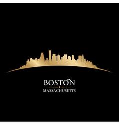 Boston massachusetts city skyline silhouette vector