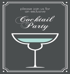 Cocktail party invitations1 vector
