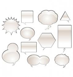 comic book speech balloons vector image vector image