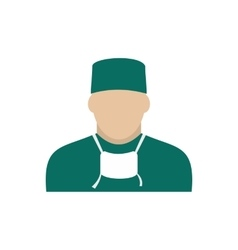 Doctor icon flat vector image