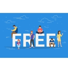 Free commercial offers concept vector