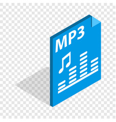 mp3 file format isometric icon vector image vector image