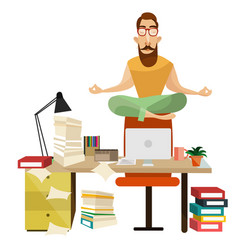 office meditation concept vector image