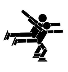 Pair figure skating flat icon vector