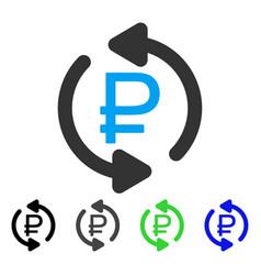 Refresh rouble balance flat icon vector