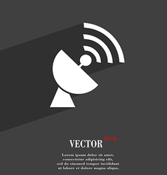 Satellite antenna symbol Flat modern web design vector image