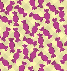 Seamless Pattern with Candy Background vector image vector image