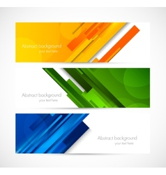 Set of lined banners vector image vector image
