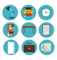 set office equipment supplies design vector image