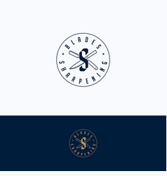Sharpening service logo vector