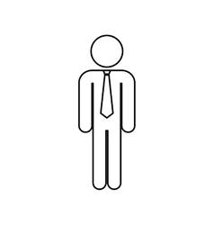 successful businessman pictogram vector image vector image